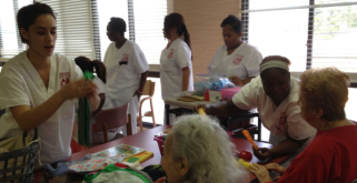 nurses with elders
